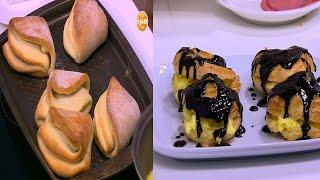 كباب الفريك - سباجيتي بصوص الفلفل - خبز مطبق - عجينة الشو محشية كاسترد | على قد الأيد حلقة كاملة