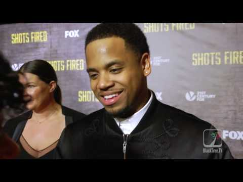 Tristan Wilds talks at  Shots Fired Premiere
