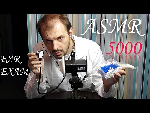 ASMR 3Dio Pure Binaural Medical Ears Cleaning Exam Role Play with Dr Sensor