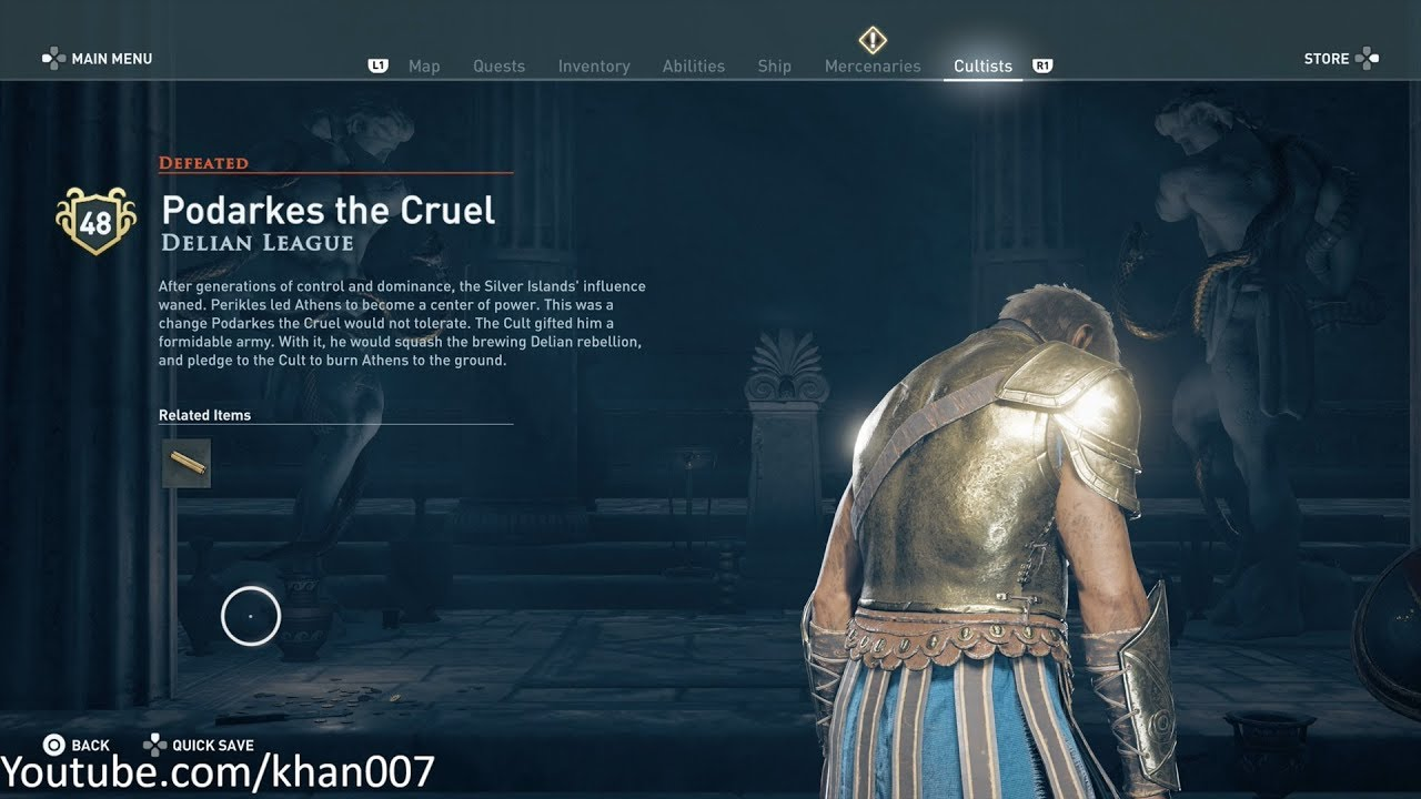 Assassins Creed Odyssey - Trouble in Paradise [Cult Member ...