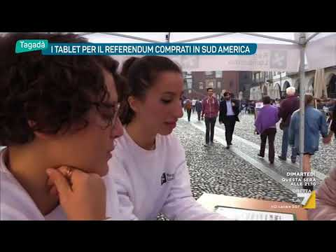 Tablet per il referendum comprati in Sud America