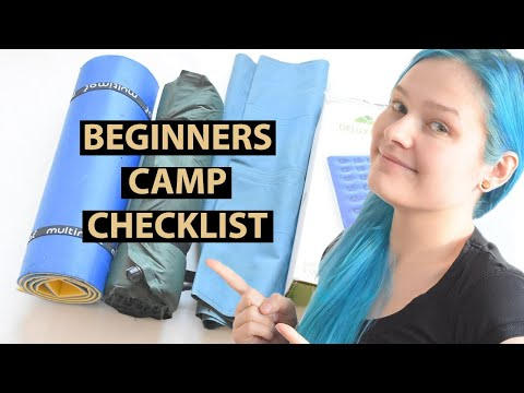 Basic Camping Gear - Beginner Checklist - UK And Europe