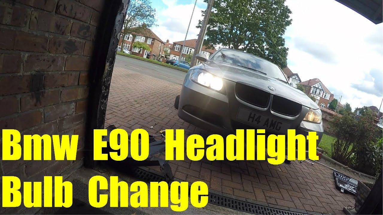 How To Change Headlight Bulb >> Bmw E90 Headlight Bulb Change (Low Beam & High Beam) - YouTube