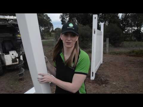 PVC Panel fencing installation video