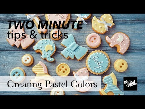 How to Mix Pastel Colored Fondant