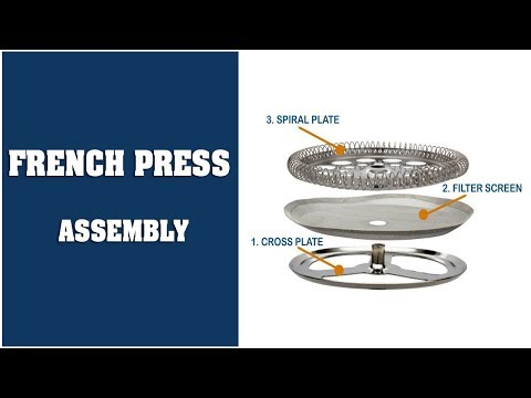 French Press Assembly and Filter Screen Replacement