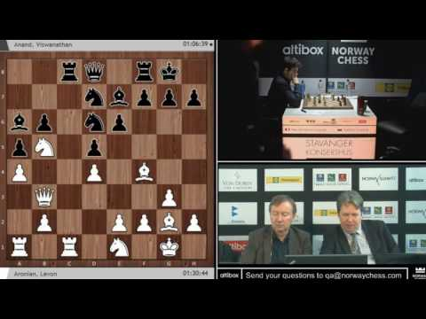 Altibox norway chess 2017 r8 aronian vs anand Catalan draw