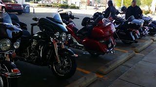 1 Goldwing takes 5 Harleys