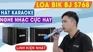 Loa BIK BJ S768 Nhật Bản: Chiều lòng cả người nghe nhạc lẫn hát karaoke