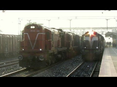 DUAL DOMINANCE: Padatik Express Overtakes APDJ Puja Special at Bhaluka Road at Full Speed !! from YouTube · Duration:  59 seconds