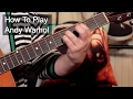 'Andy Warhol' David Bowie Guitar Lesson