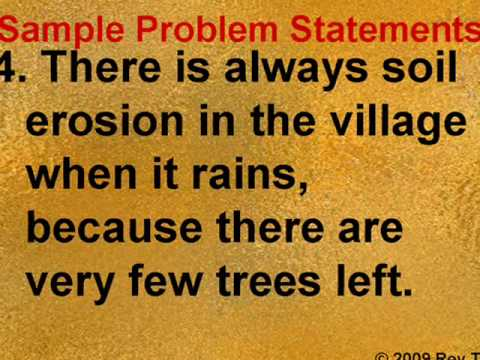Sample Problem Statements -- Rey Ty - YouTube - problem statement example
