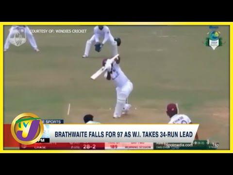 Brathwaite Falls for 97 as Windies Takes 34-Runs Lead - August 13 2021