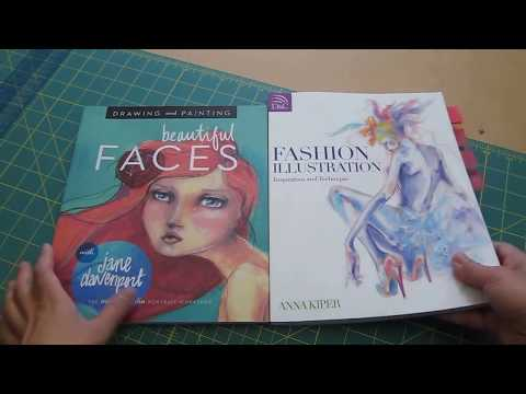 Quick Flip Through of Beautiful Faces (Jane Davenport) and Fashion Illustration (Anna Kiper)