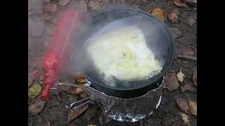 Freezer Bag Cooking An Omelet In A Bag While Canoe Camping