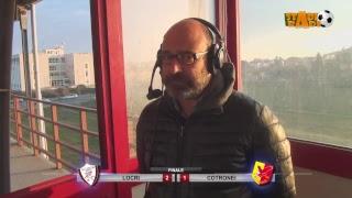 Locri - Cotronei 2-1 gara integrale