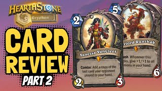 A NEW VANCLEEF!! Good Handbuff?? New Core Set cards & reworks! | Core Set Review #2 | Hearthstone