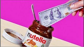 Como convertir un frasco de Nutella en una billetera