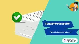 Erklärvideo 3) Lieferung eines Containers