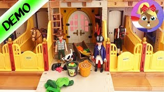 Playmobil Manege Country Nederlands - Opbouw van de manegeaccessoires - bank hek