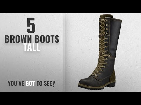 Top 5 Brown Boots Tall [2018]: Timberland Women's Wheelwright Tall Lace Waterproof Boot 7 US M Dark