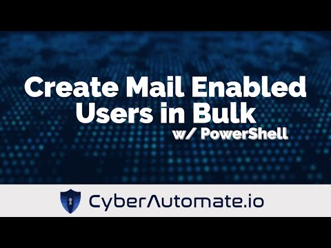 Create Mail Enabled Users in Bulk with Password verification using PowerShell