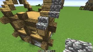 Mooi en simpel huis van alleen Cobblestone & Oakwood  - Minecraft