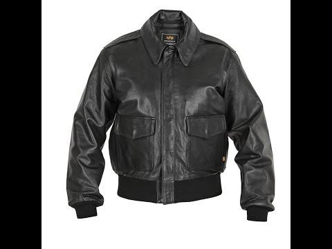 Кожаная куртка A-2 Leather Jacket Black Alpha Industries