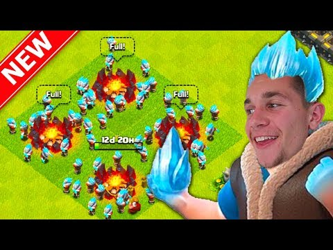 TRYING NEW CoC TROOP! Clash Of Clans Christmas Update ICE WIZARD!
