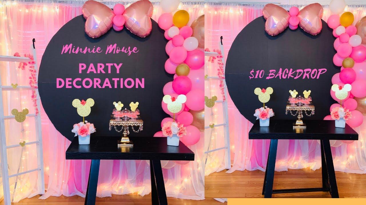 Minnie Mouse Party Decoration Ideas Diy Dollar Tree Minnie Mouse Party Ideas Youtube