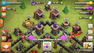 I have 5 anniversary cakes on Clash of Clans