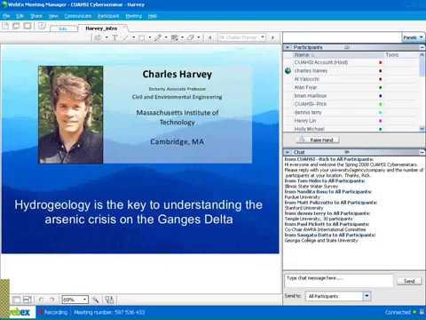 2008 Spring Cyberseminar Series: Charles Harvey, Massachusetts Institute of Technology