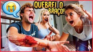 QUEBREI O MEU BRAÇO FEIO!! - TROLLANDO NAMORADA [ REZENDE EVIL ]