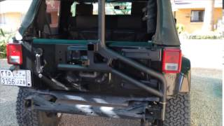 aev spare tyre carrier installation