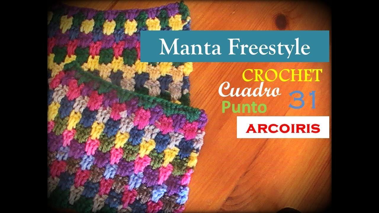 PUNTO ARCOIRIS a crochet - ccuadro 31 manta FREESTYLE (diestro ...