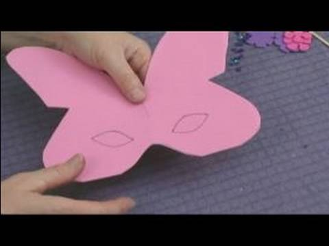 Making Foam Masks for Kid's Crafts : Cutting Out Eye Holes for a Butterfly Mask