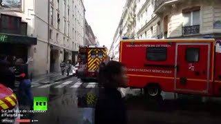 L'évacuation de la zone où l'explosion au gaz a retenti (Direct du 1.04.2016)