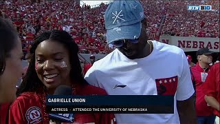 Gabrielle Union and D-Wade Attend Nebraska Game vs Rutgers 9/23/17