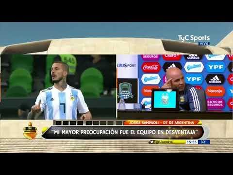 Declaraciones de Sampaoli post Argentina 2-4 Nigeria