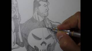How to Draw The Punisher (Time Lapsed)