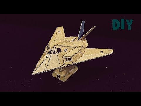 How to make Stealth Aircraft\ Lockheed F-117 Nighthawk\ from CARDBOARD\ AMAZING TOY DIY