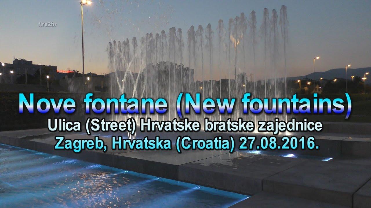 Nove Fontane New Fountains Zagreb Hrvatska Croatia 27 08 2016