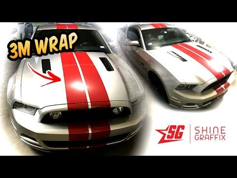 Dark Red 3m 1080 Racing Stripes Install Mustang Youtube