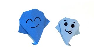 Halloween Origami Ghost - Super easy - Tutorial - How to make an origami ghost