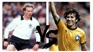 Rummenigge Vs Zico 1981 - Germany x Brazil