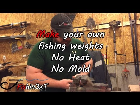 Lead Fishing Weights - NO Heat Or Mold Needed