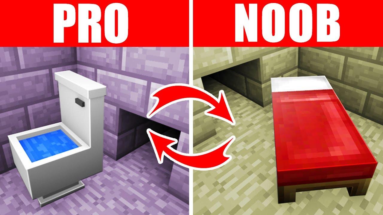 Minecraft NOOB vs. PRO: SWAPPED PRISON ESCAPE in Minecraft (Compilation)