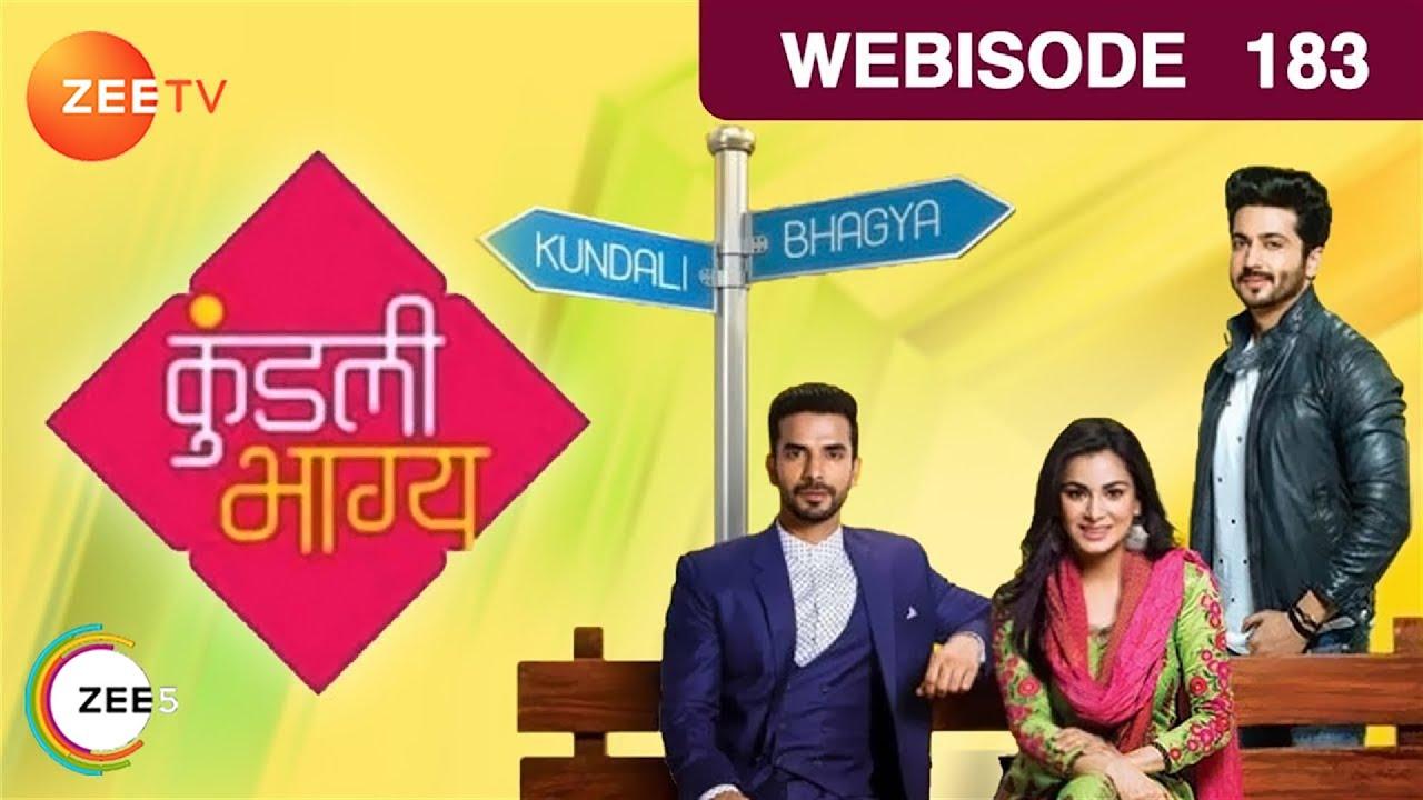 Kundali Bhagya | Hindi TV Serial | Epi - 183 | Webisode | Shraddha Arya, Dheeraj Dhoopar | ZeeTV
