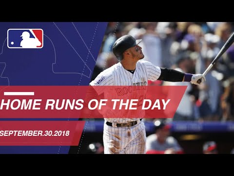 Watch all the home runs for September 30, 2018