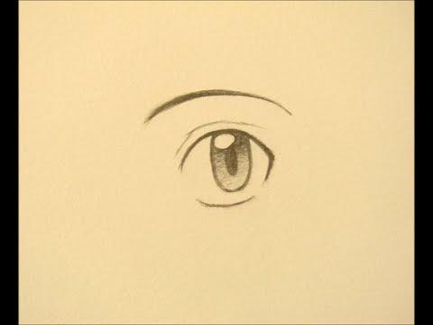How To Draw Manga Boy Eyes 3 Ways Youtube